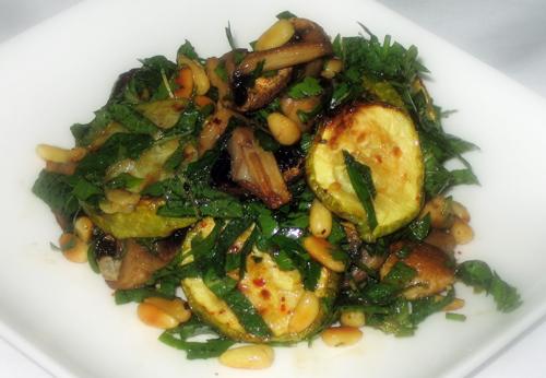 Рецепт кабачок с грибами